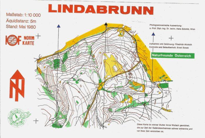 Karte Lindabrunn 1980