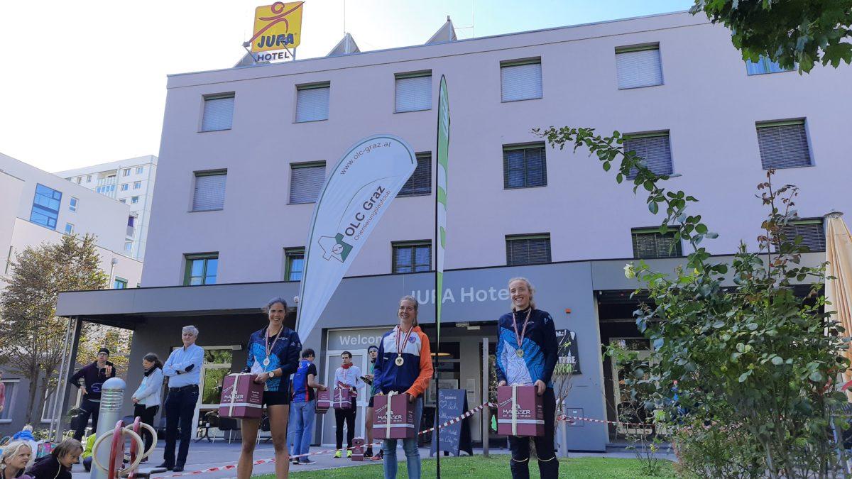 ÖSTM Sprint 2020 Graz - Siegerehrung Damen