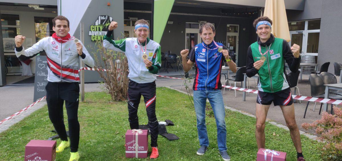 ÖSTM Sprint 2020 Graz - v.l. Matthias Reiner, Robert Merl, Gernot Ymsén, Mathias Peter